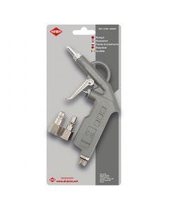 Blaaspistool met korte tuit en insteeknippels 6 bar