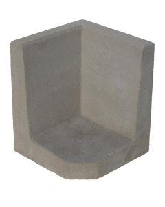 L-hoekelement Grijs 50x40x40 cm