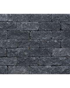 Wallblock Tumbled 12x12x30 cm Antraciet