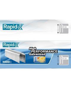 Rapid Kabelniet 28/10mm DP Gegalvaniseerd in doos (5x1000 stuks)