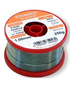 Stannol Soldeertin HS10 S-Sn60Pb39Cu1 1,0mm 250g 535248