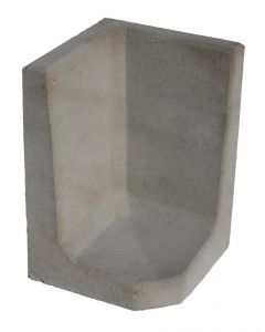 L-hoekelement Grijs 60x40x40 cm