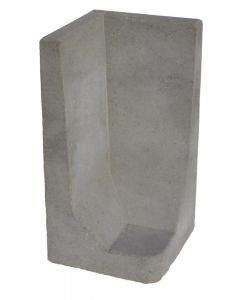 L-hoekelement Grijs 80x40x40 cm