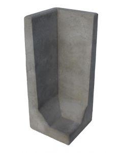 L-hoekelement Grijs 100x40x40 cm